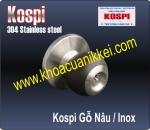 KOSPI TRÒN GỖ NÂU - INOX